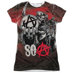 Sons of Anarchy Reaper Ball Junior T-shirt