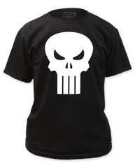 Punisher White Logo Adult T-shirt