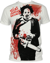 The Texas Chainsaw Massacre Splatter Big Print Adult T-shirt