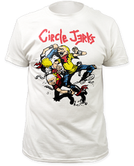 Circle Jerks Thrashers White Cotton Short Sleeve Adult T-shirt