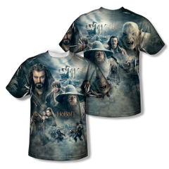 The Hobbit The Battle of the Five Armies Epic Poster Adult Sublimation Front & Back Print T-shirt