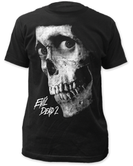 Evil Dead 2 Black and White Poster Black Short Sleeve Adult T-shirt