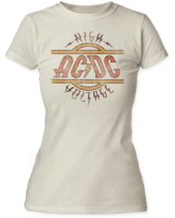 AC/DC High Voltage 100% Cotton Short Sleeve Junior T-shirt