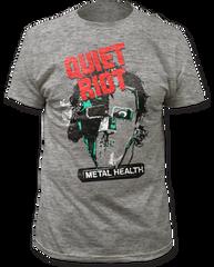 Quiet Riot Metal Head Heather Grey Short Sleeve Adult T-shirt