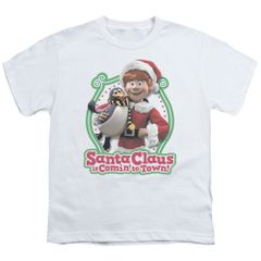 Christmas Santa Claus is Coming to Town Penguin Youth T-shirt