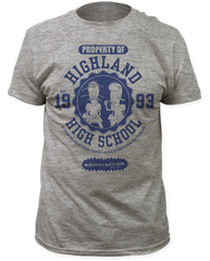 Beavis and Butthead Highland High School Athletic Heather Short Sleeve Adult T-shirt