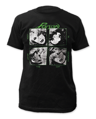 Poison Look What the Cat Dragged In Black Short Sleeve Adult T-shirt