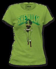 She Hulk She Hulk Heather Green Short Sleeve Junior T-shirt