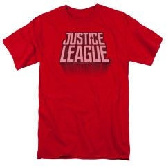 League of Justice League Distressed Red Short Sleeve Adult T-shirt