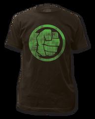 Incredible Hulk Fist Bump Black Short Sleeve Adult T-shirt