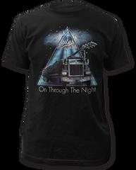 Def Leppard On Through the Night Black Cotton Short Sleeve Adult T-shirt