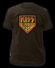 KISS KISS Army Coal Short Sleeve Adult T-shirt