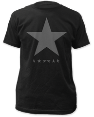David Bowie Black Star Black Cotton Short Sleeve Adult T-shirt