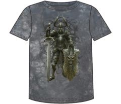 Fantasy Dark Knight Short Sleeve Adult T-shirt