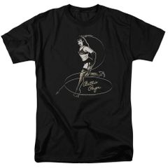Bettie Page Whip It Black Short Sleeve Adult T-shirt