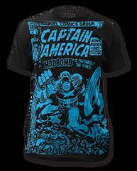 Captain America Madbomb Big Print Adult T-shirt