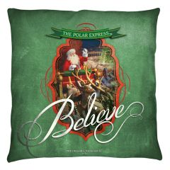 Christmas Polar Express Santa Throw Pillow FB Print