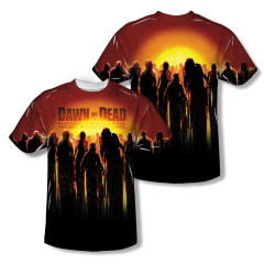 Dawn of the Dead The Swarm Sublimation Print Front and Back Junior T-shirt