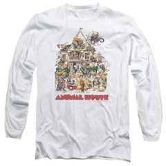 Animal House Poster Art White Long Sleeve Adult T-shirt