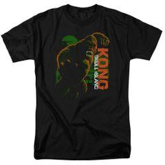 Kong Skull Island Attack Mode Black Short Sleeve Adult T-shirt