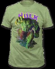 Incredible Hulk Immortal Hulk Heather Green Short Sleeve Adult T-shirt