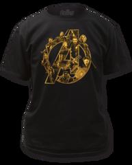 The Avengers Infinity Wars Logo Black Short Sleeve Adult T-shirt