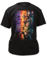 The Avengers Infinity Wars Poster Black Short Sleeve Adult T-shirt