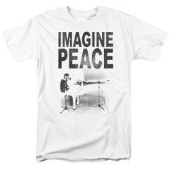 John Lennon Imagine White Short Sleeve Adult T-shirt