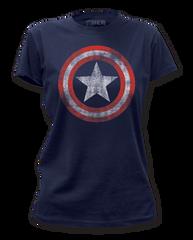 Captain America Distressed Shield Junior T-shirt