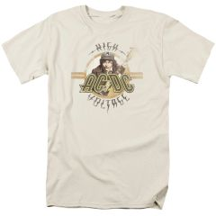 AC/DC High Voltage Cream Short Sleeve Adult T-shirt