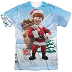 Christmas Santa Claus is Coming to Town Helpers FB T-shirt