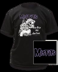 The Misfits Die Die My Darling Black Short Sleeve T-shirt
