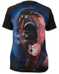 Pink Floyd The Wall Black Sublimation Print Short Sleeve Adult T-shirt