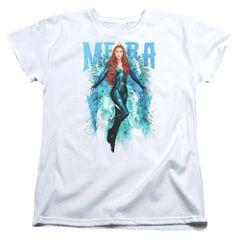 Aquaman Mera White Short Sleeve Women's T-shirt