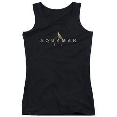Aquaman Logo Black Junior Tank Top T-shirt