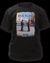 Pink Floyd Wish You Were Here Burnt Edges Black Short Sleeve Adult T-shirt