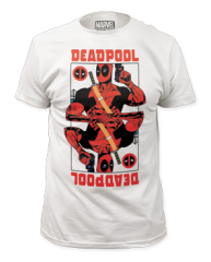 Deadpool Wild Card White Cotton Short Sleeve Adult T-shirt