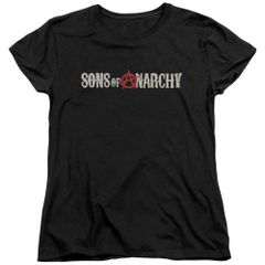 Sons of Anarchy Beat Up Logo Womens T-shirt