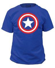 Captain America Shield on Royal Adult T-shirt