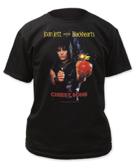 Joan Jett Cherry Bomb Black Short Sleeve Adult T-shirt