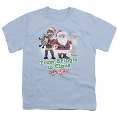 Christmas Santa Claus is Coming to Town Kringle to Claus Youth T-shirt