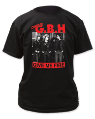 G.B.H. Give Me Fire Black Short Sleeve Adult T-shirt