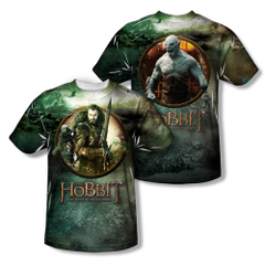 The Hobbit The Battle of the Five Armies Dwarves vs Azog Adult Sublimation Front & Back Print T-shirt