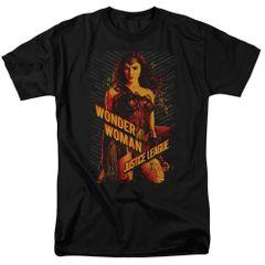 Justice League Wonder Woman Black Short Sleeve Adult T-shirt