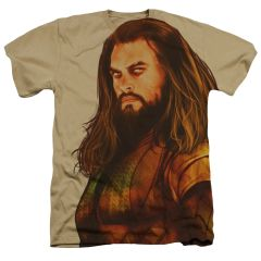 Justice League Aquaman Oversized Sand Short Sleeve Adult T-shirt
