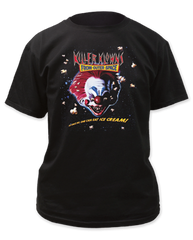 Killer Klowns From Outer Space Ice Cream Black Short Sleeve Adult T-shirt