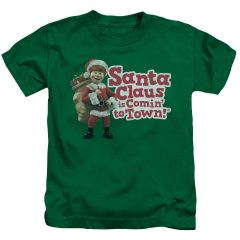 Christmas Santa Claus is Coming to Town Santa Logo Juvenile T-shirt
