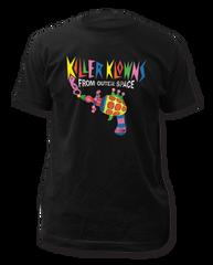 Killer Klowns From Outer Space Popcorn Gun Black Short Sleeve Adult T-shirt