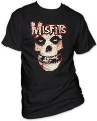The Misfits Bloody Misfits Skull Black Short Sleeve Adult T-shirt