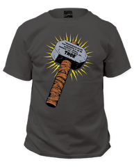 Thor Whosoever Holds This Hammer Charcoal Short Sleeve Adult T-shirt